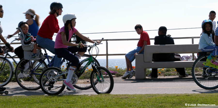 beach bike path Huntington Beach